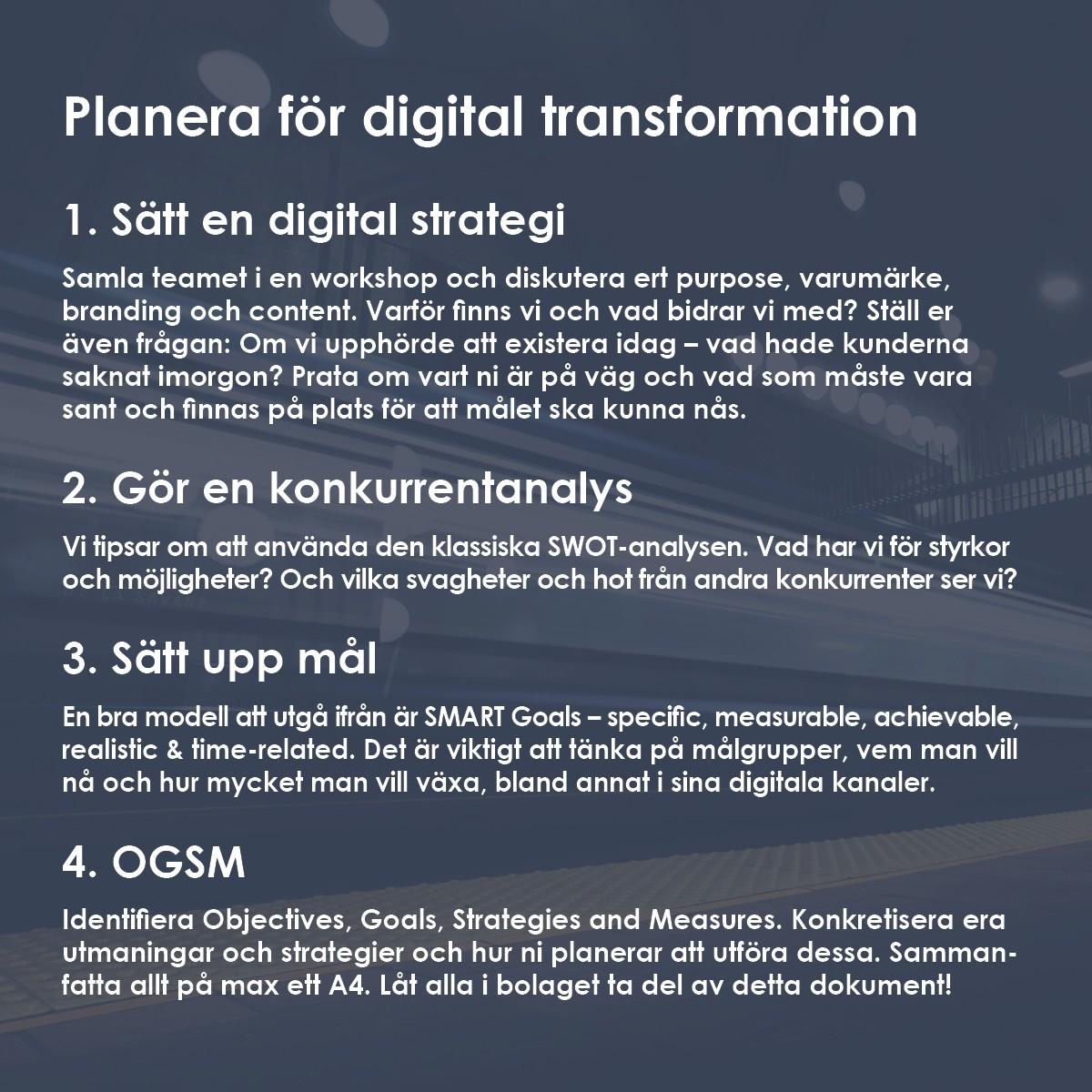 planera för digital transformation